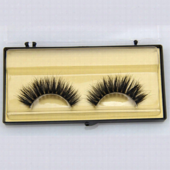 1 Pair Beauty Hand Madee Thick Curly Horse Hair False Eyelashes Fake Eye Lashws Natural Long Mink Makeup Extension Tools