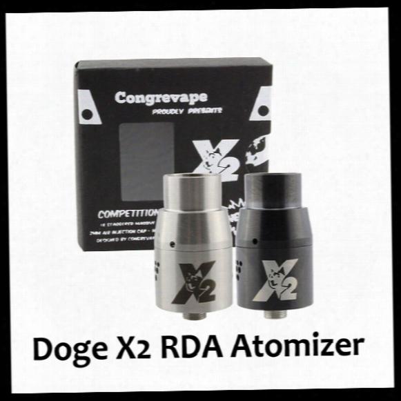 2015 Hottest Atomizer Tanks Vaporizer Doge X2 Rda 22mm Airflow Control Big Dripping Doge X V2 Rda Atomizer For 510  Thread Mechanical Mod