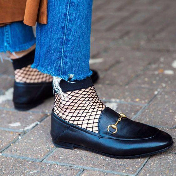 2017 Fall Horsebit Leather Loafers Casual Women Shoes Flats Slip On Sexy Street Style Ladies Shoes Woman Summer Slippers