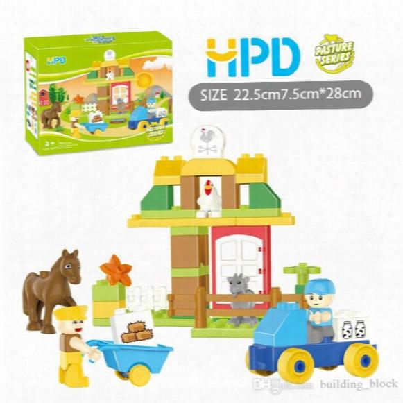 2017 Hpd Block Puzzle Boys Toys Girls Gifts Bricks The Horse Is Upset Children Plastics Assemblage Building Blocks Puzzle Birthday Present
