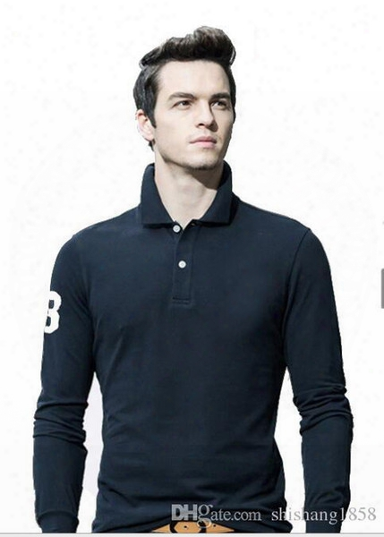 2017 New Hot Sale Polo Shirt Men Big Small Horse Solid Long-sleeve Summer Casual Polo Mens Slim Polos Casual Shirt