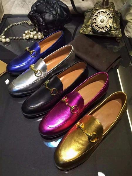 Best Selling Spring Autumn Shoes Women Vintage Horse Bit Embellished Slip On Loafers Brand Designer Round Toe Casual Shoes