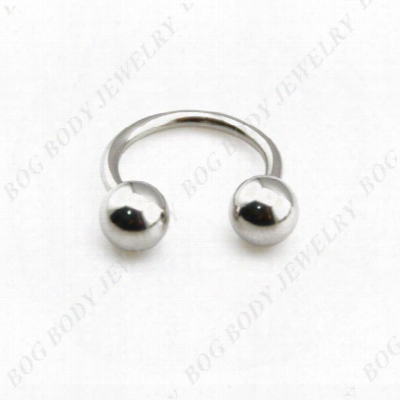Bog-surgical Steel Horseshoe Bar - Lip Nose Septum Ear Ring Circular Barbells Various Sizes Available 14g-40pcs/lot