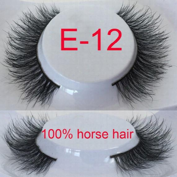 Free Shipping Horse Eyelashes Gift For Sexy Girls Christmas Present Natural Eyelashes Ponytai Eyelashes E12