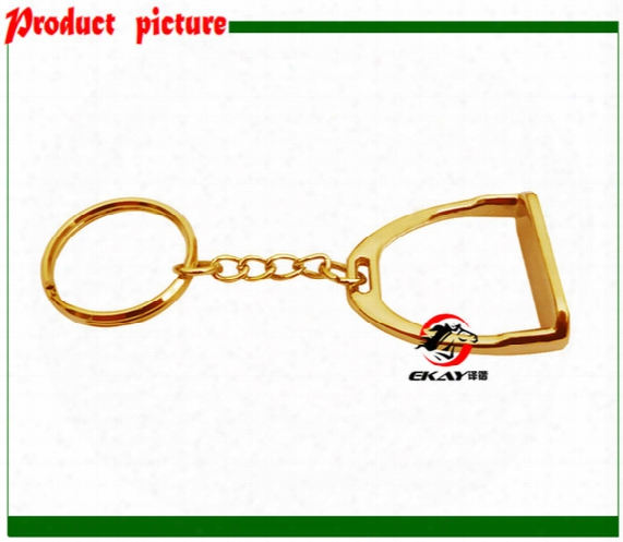 Free Shipping Horse Stirrup Key Chain,gift,key Ring,key Holder,gold Color,giveaways.(k006g)