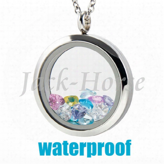 High Quality 316l Stainless Steel Water Proof 20mm 25mm 30mm Screw Glass Twist Memory Living Locket