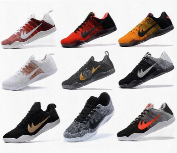 High Quality Kobe 11 Elite Men Basketball Shoes Kobe 11 Red Horse Oreo Sneakers Kb 11 Ep Sports Sneakers With Shoes Box