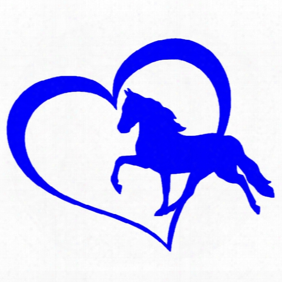 Home Decorations Automobile And Motorcycle With Products Vinyl Decal Car Stickers Glass Stickers Scratches Sticker Jdm Horse Heart