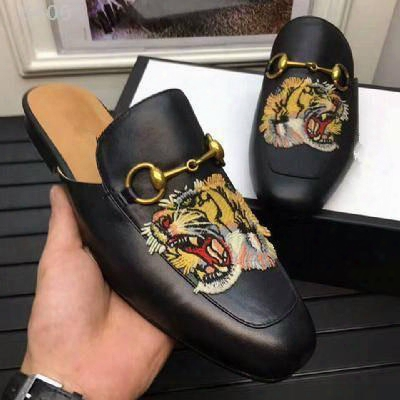 Hot Sale 2017 New Genuine Leather Horsebeit Loafers Scuffs Slippers Sandals Casual Shoes For Your Foot And Comfortable