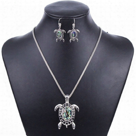 Ms1504261 Fashion Jewelry Sets Hight Quality Necklace Sets For Women Jewelry Silver Plated Sea Turtle Unique Design Party Gifts