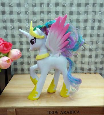 My Pony Friendship Is Magic Action Toy Figures Hobbies Unicorn Horse Cartoon Model Little Cute Pony Princess Celestia Toys Action Figures