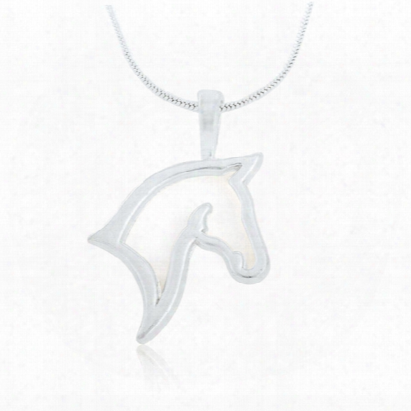 New Arrival 30pcs/lot Zinc Alloy Rhodium Plated Animals Series Horse Pendant Sports Necklace Bodybuilding Jewelry Men