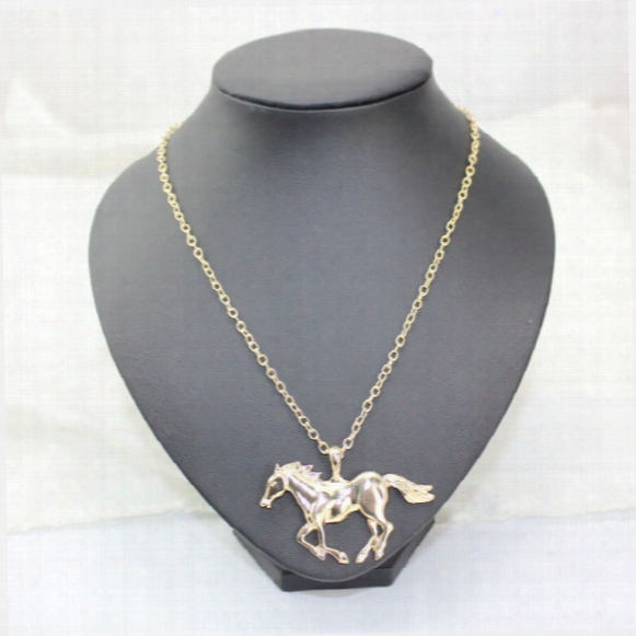 New Arrival Jewelry Fashion Horse Pendant Necklace For Women Ladies Silver Gold Plated Girl Mom Gifts