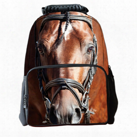 New Fashion 3d Animal Horse Face Backpack Student School Bag Laptop Shoulder Bags Outdoor Sport Travel Bag Rucksacks