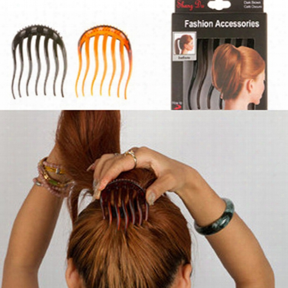 On Sale Simple Super Practical Hair Ornaments Fluffy Horsetail Immobile Comb Updo Diy Hairstyle Tool Free Shipping Two Colors