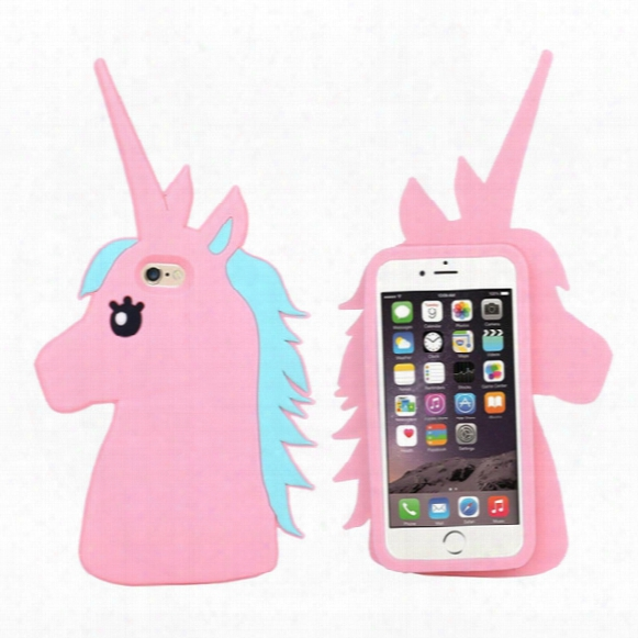 Phone Case Unicorn 3d Cartoon Soft Silicone Rubber Horse Back Case Cover 2017 For Iphone Se 5 5s 6 6s 7 7s Plus