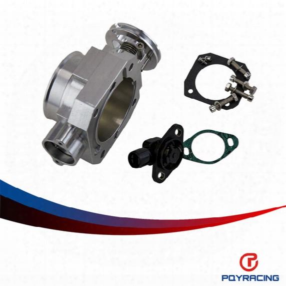 Pqy Store-70mm Throttle Body + Tps Throttle Body Position Sensor For Honda B16 B18 D16 F22 B20 D/b/h/f Ef Eg Ek Dc2 H22 D15 D16