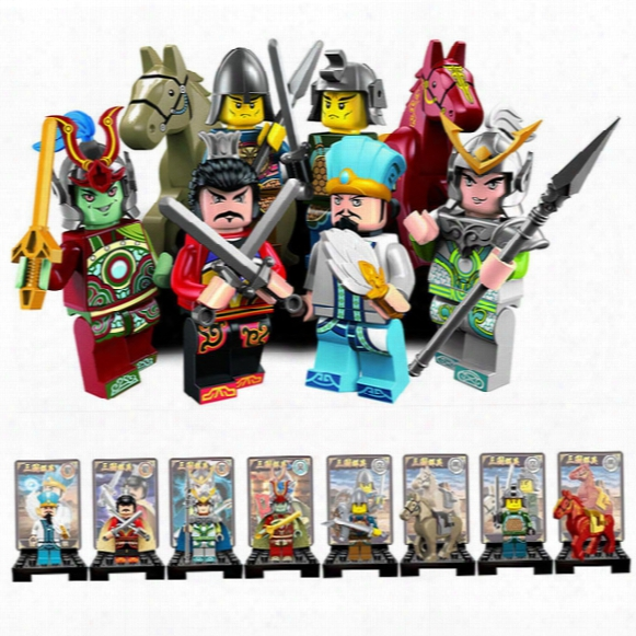 Romance Of Three Kingdoms Minifigure Chinese Ancient Solider Super Herors Model Building Block Toys Enlighten 1501b