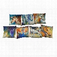 Colorful Horse Linen Cushion Cover Home Office Sofa Square Pillow Case Decorative Cushion Covers Pillowcases Without Insert(18*18Inch)