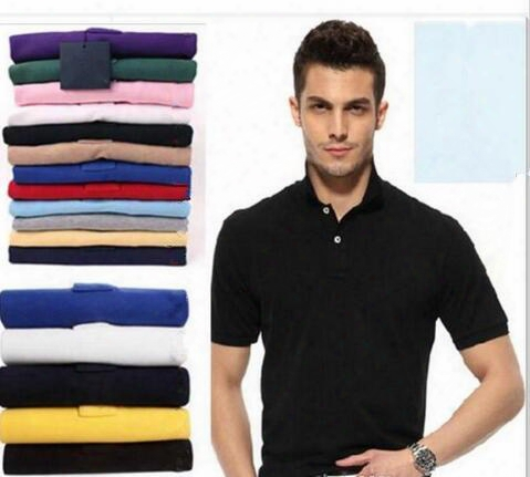 Top Sale S~6xl Man's Solid Polo Shirts Camisa Polo Embroidery Small Horse Polo Shirts Man Polyester Men Short Sleeve Casual Shirts