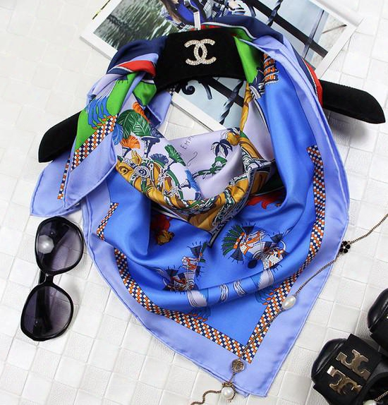 Women Ladies High Quality 100% Horse Colt Twill Silk Scarf Square Shawl Wrap 90x90cm Ups/tnt Express Free Shipping (9048)