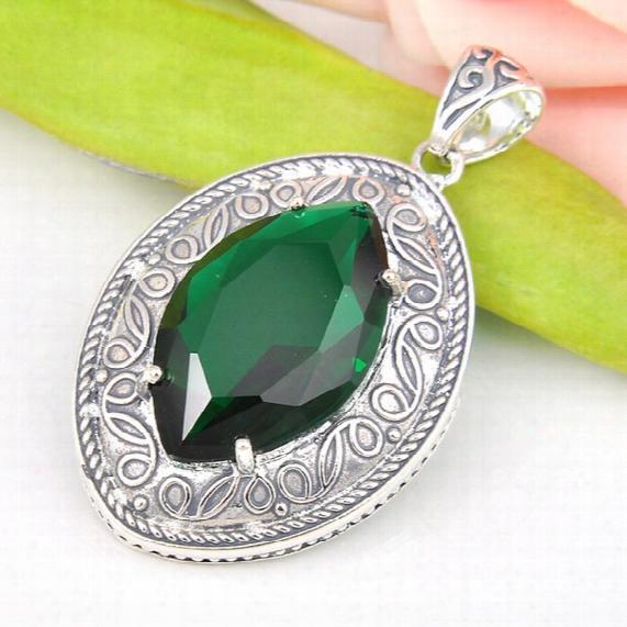 Best Wholesle 5 Pcs Antique Horse Eye Green Quartz Topaz Crystal Gems 925 Sterling Silver Usa Israel Wedding Engagement Pendants Weddings
