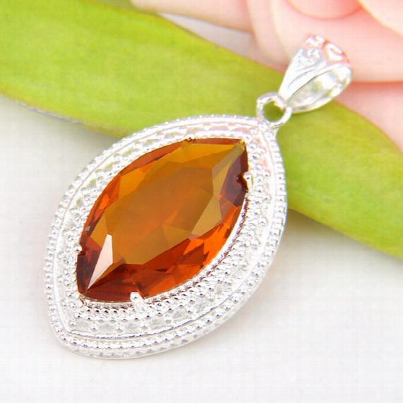 Best Wholesle 5 Pcs Antique Shiny Horse Eye Brazil Citrine Crystal Gems 925 Sterling Silver Usa Israel Wedding Engagement Pendants Weddings