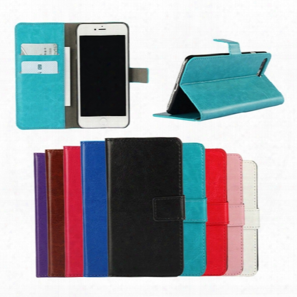 Hot Crazy Horse Leather Wallet Case Multi-function Flip Cover Kickstand Holsterfor Apple Iphone 5 5s Se 5c 4 4s 6 6s 7 Plus