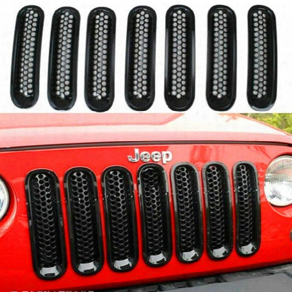 Jeep Jeep Horses Horses In The Net, The Grid Grille, Bright Circles Black With Insect Nets