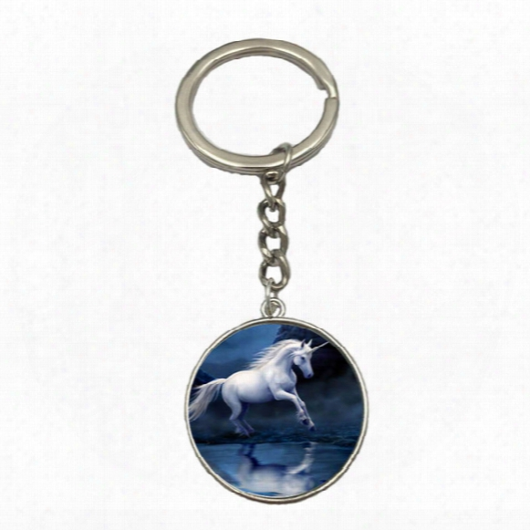 Vintage Jewelry Art Horse Unicorn New Fashion High Quality Cheap Unisex Silver Keychain Manufacturer Free Shipping Gift Ns06