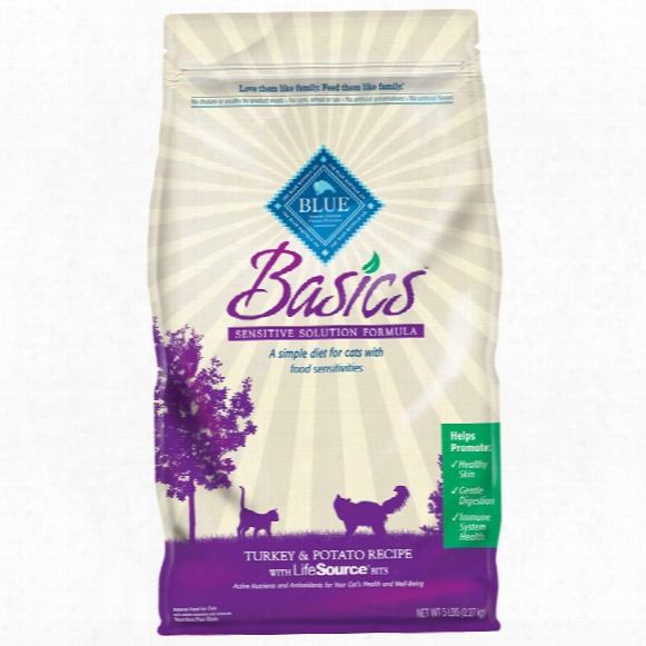 Blue Buffalo Basics Adult Turkey & Potato Recipe For Cats (5 Lb)