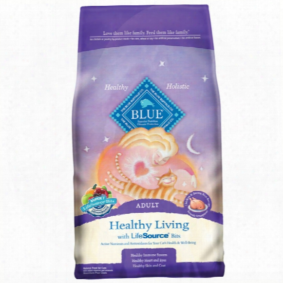 Blue Buffalo Healthy Living Chicken & Brown Rice Rwcipe For Cats (15 Lb)
