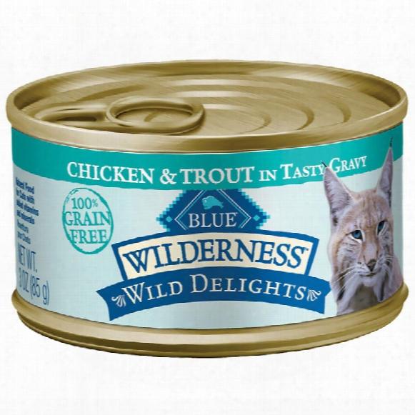 Blue Buffalo Wilderness Grain-free Wild Delights Chicken & Trout Recipe (24x3oz)