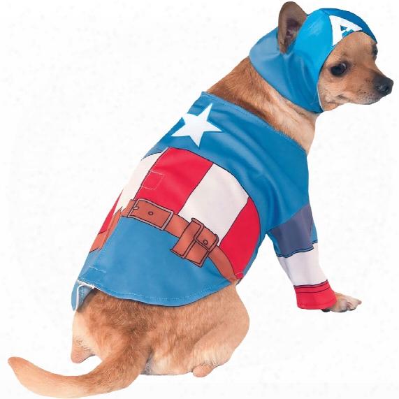 Captain America Dog Costume - Large