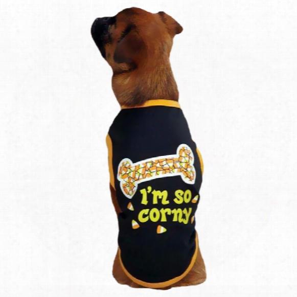 Casual Canine I'm So Corny Tee Black - Large