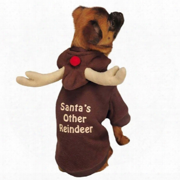 Casual Canine Reindeer Hoodie Brown - Large