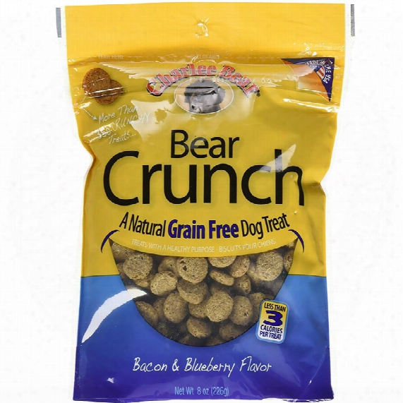 Charlee Bear Dog Treats - Bear Crunch With Bacon & Blueberry (8 Oz)