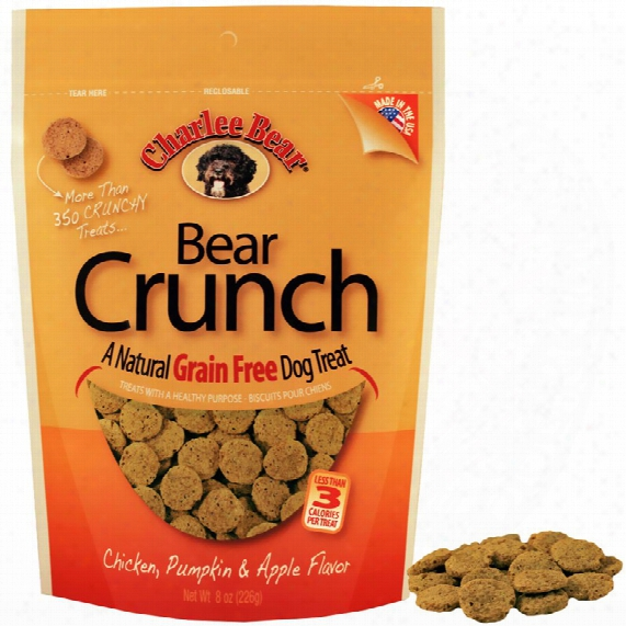 Charlee Bear Dog Treats - Bear Crundh With Chicken, Pumpkin & Apple (8 Oz)