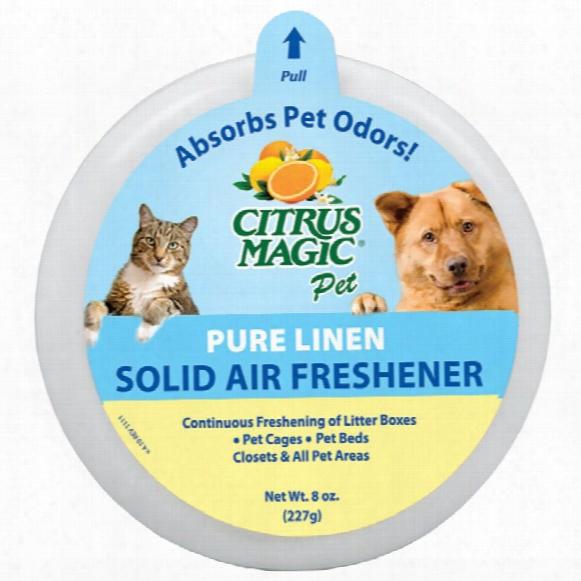 Citrus Magic Pet Odor Absorbing Solid Air Freshener - Pure Linen (8 Oz)