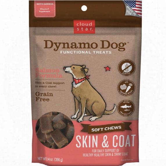 Cloud Star Dynamo Dog Functional Treats - Skin & Coat - Salmon (14 Oz)