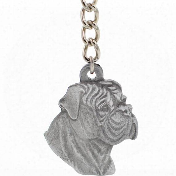 """Dog Breed Keychain Usa Pewter - Bullmastiff (2.5"""")"""