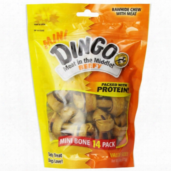 Dingo Beefy Mini Bones (6 Oz) - 14 Pack