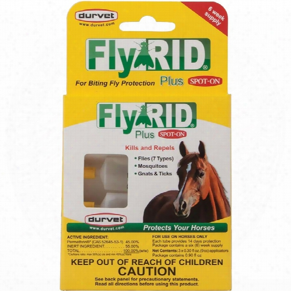 Durvet Fly Rid Plus Spot-on For Horses (3 Dose)