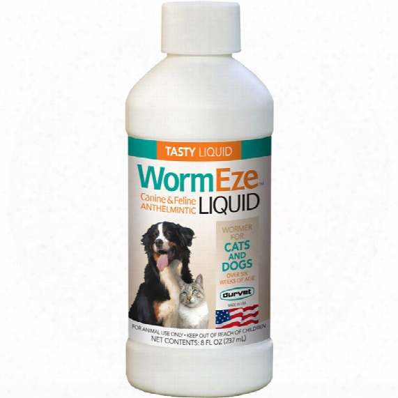 Durvet Wormeze Canine & Cat Liquid (8 Fl Oz)