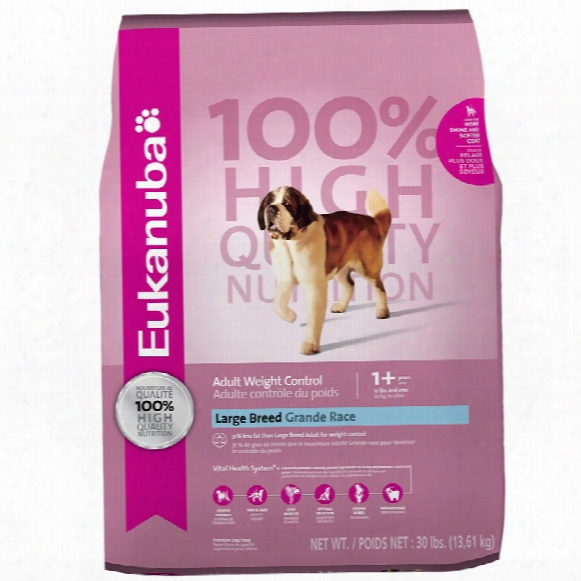 Eukanuba Adult Large Breed Dog Food - Weight Control (30 Lb)