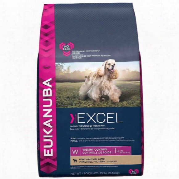 Eukanuba Excel Adult Dog Food - Weight Control Lamb (25 Lb)