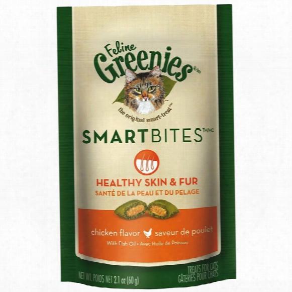 Feline Greenies Smartbites Skin & Fur Chicken (2.1 Oz)