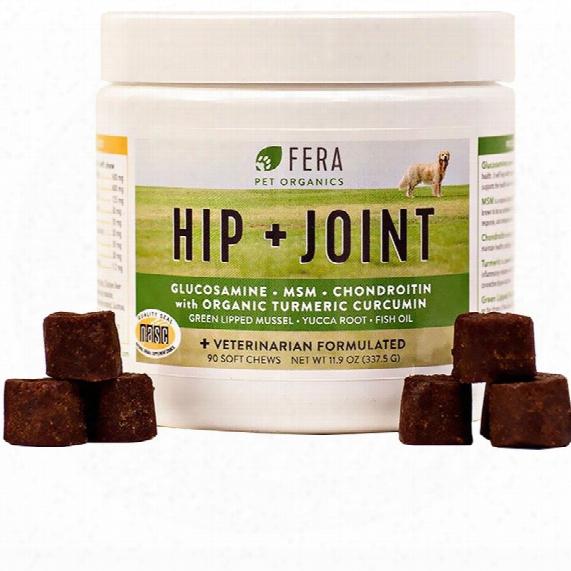 Fera Pet Organics Hip + Joint Supplement For Dogs (90 Soft Chews)