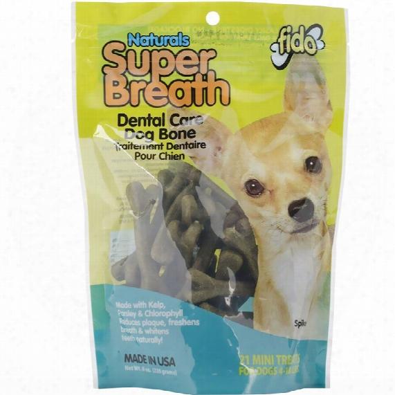 Fido Dental Care Super Breath Bones (mini 21 Pack)