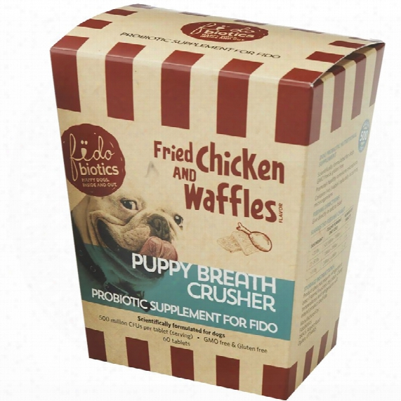Fidobiotics Puppy Breath Crusher - Fried Chicken & Waffles